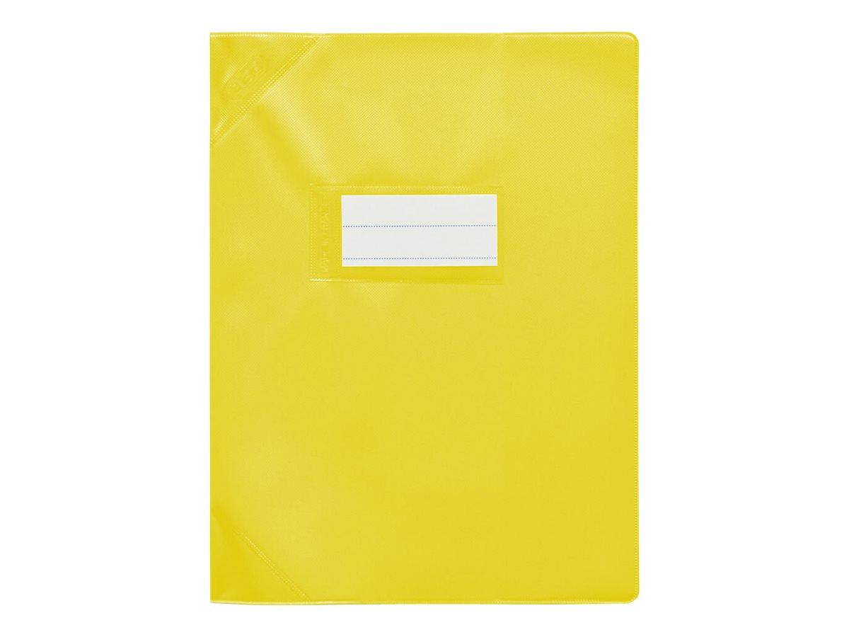 Oxford Strong Line - Protège cahier sans rabat - 17 x 22 cm - jaune opaque