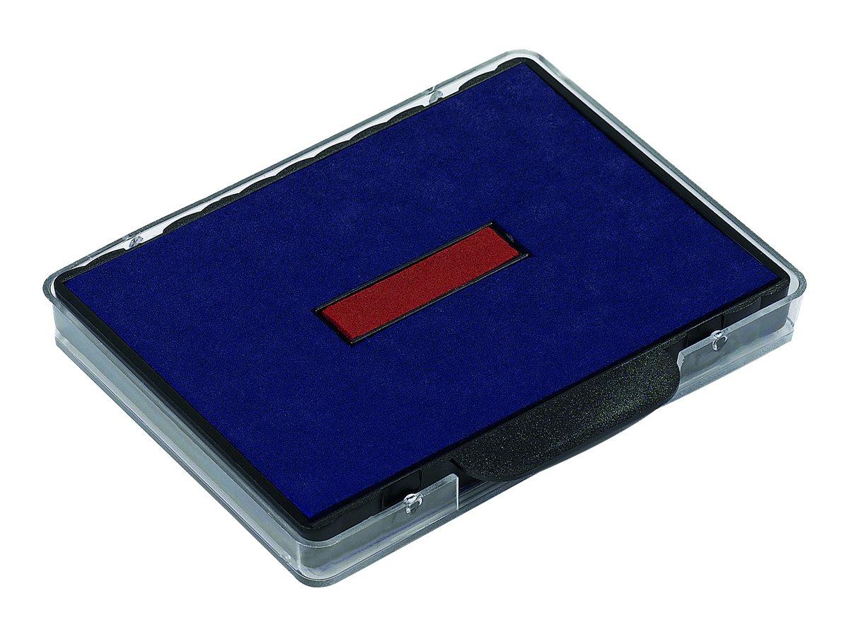 Trodat - 3 Encriers bicolores 6/58/2 recharges pour tampon 5474/5480 - bleu/rouge