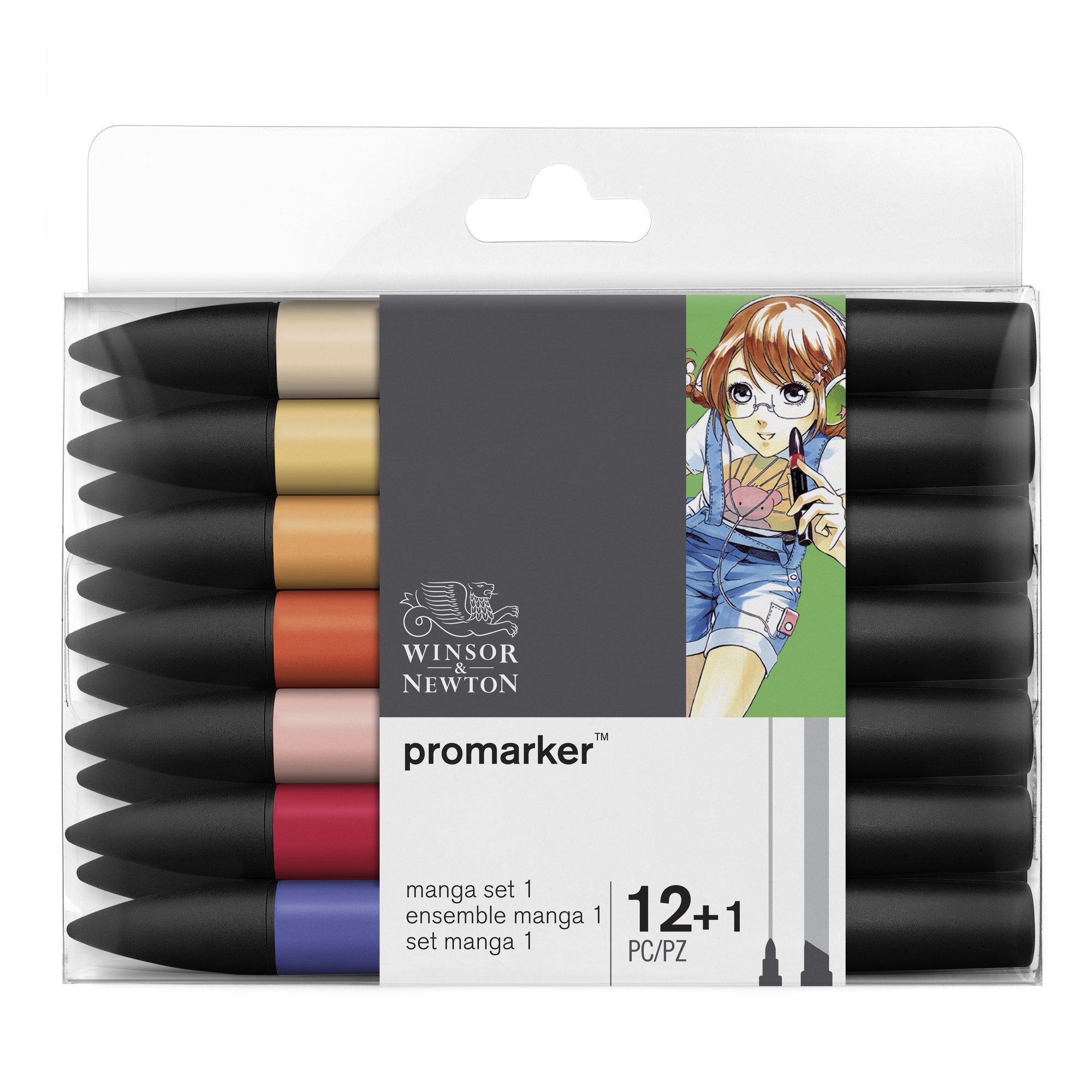 ProMarker - Pack de 13 marqueurs double pointe - manga expansion pack 1