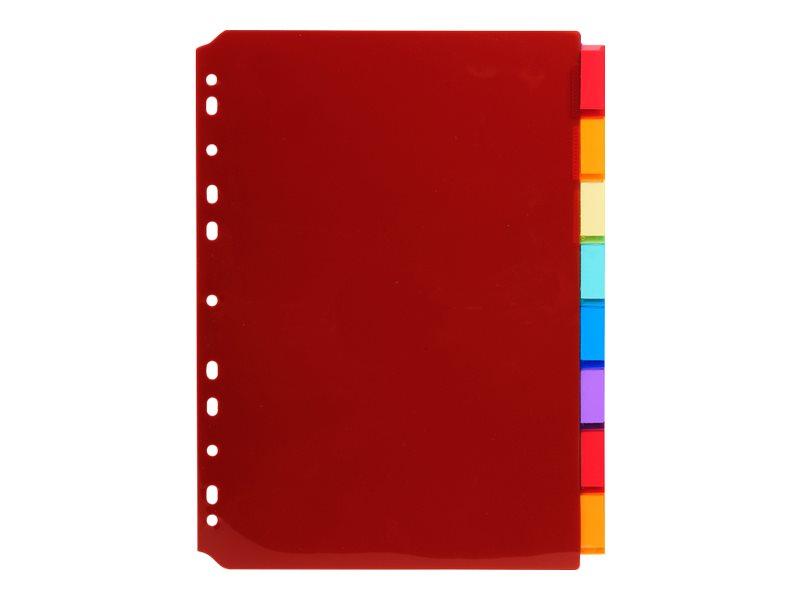 Exacompta - Intercalaire personnalisable 8 positions - A4 - polypropylène coloré