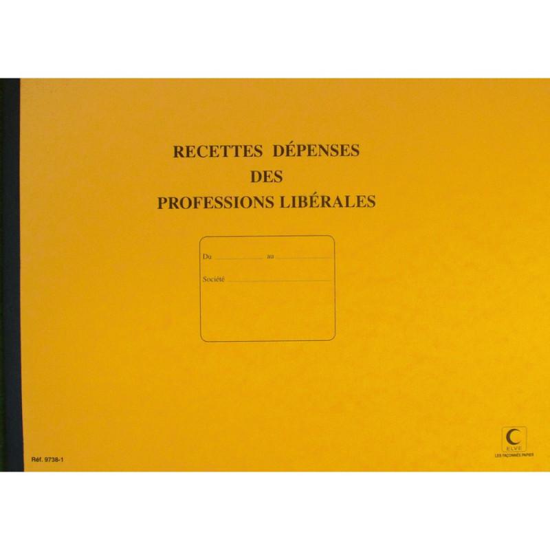 ELVE - Journal des dépenses et recettes pour professions libérales - 27 x 37 cm