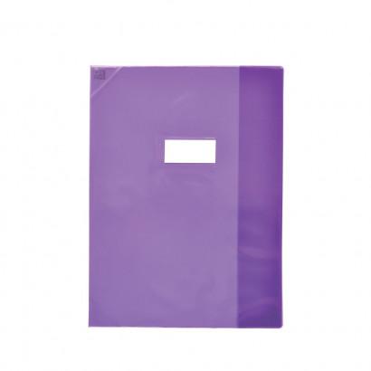 Oxford Strong Line - Protège cahier sans rabat - 24 x 32 cm - violet translucide