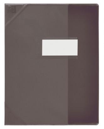 Oxford Strong Line - Protège cahier sans rabat - A4 (21x29,7 cm) - noir translucide