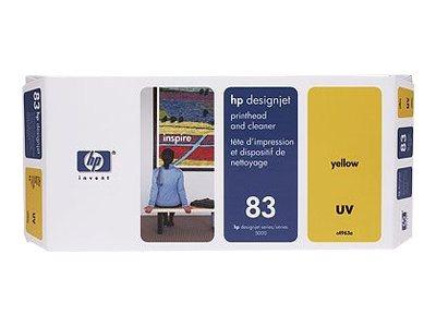 HP 83 - jaune avec nettoyeur - originale - tête d'impression