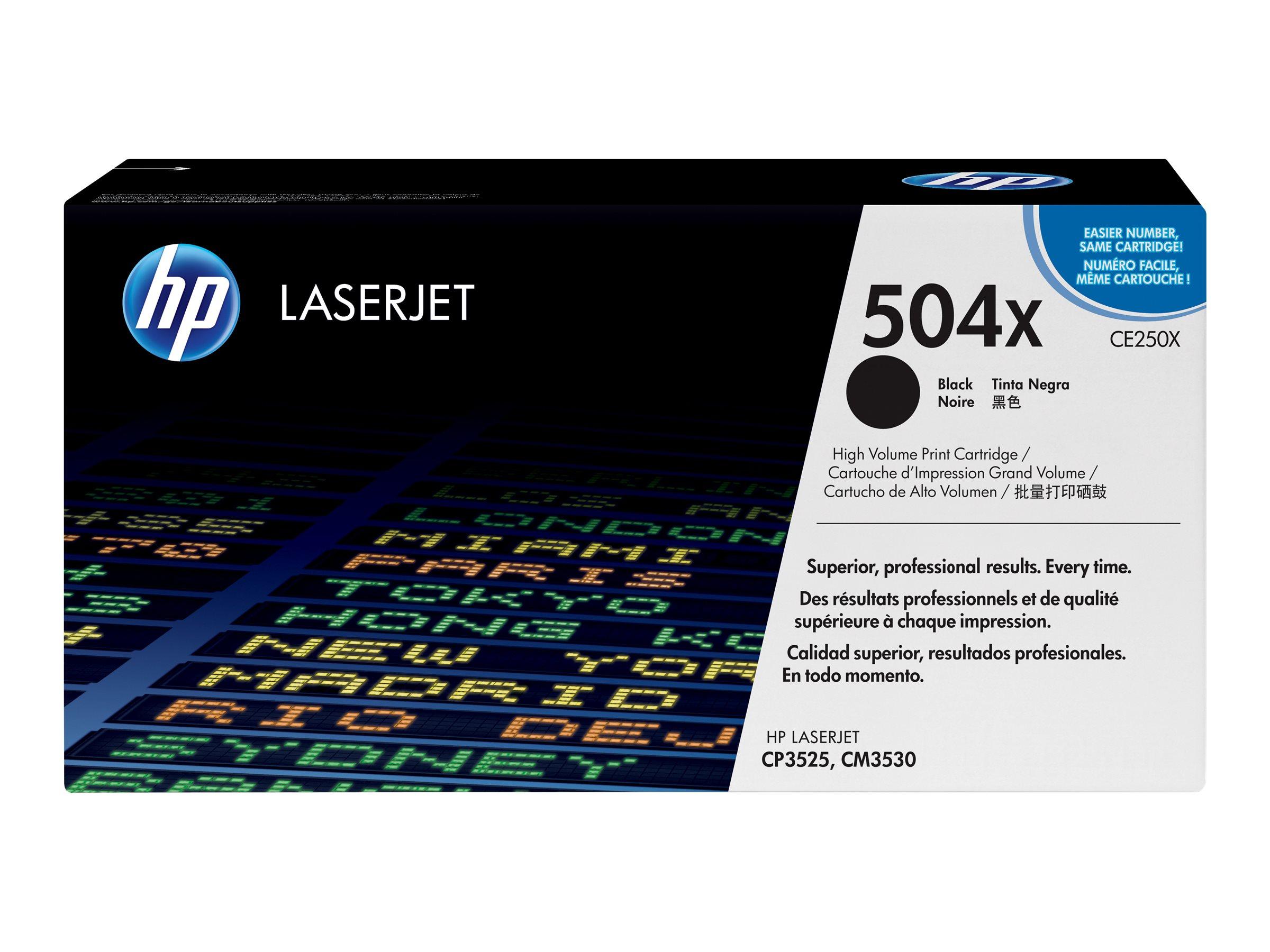 HP 504X - noir - cartouche laser d'origine