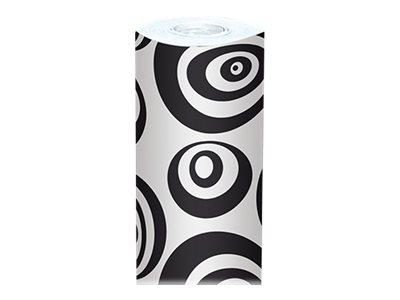 Clairefontaine Alliance - Papier cadeau - 70 cm x 50 m - 60 g/m² - ronds noirs