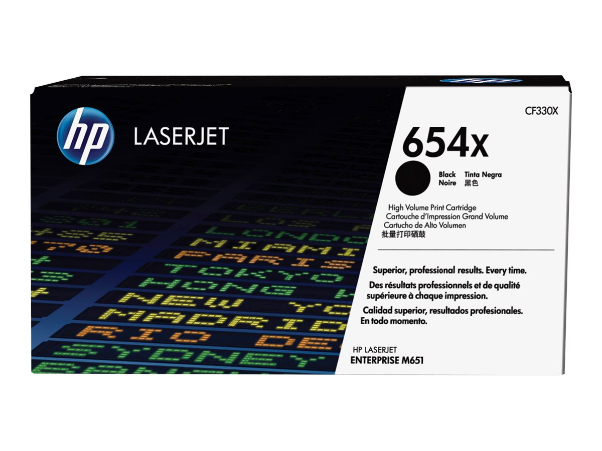 HP 654X - noir - cartouche laser d'origine