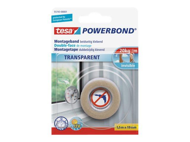 Tesa Powerbond - Adhésif double face - 19 mm x 1,5 m