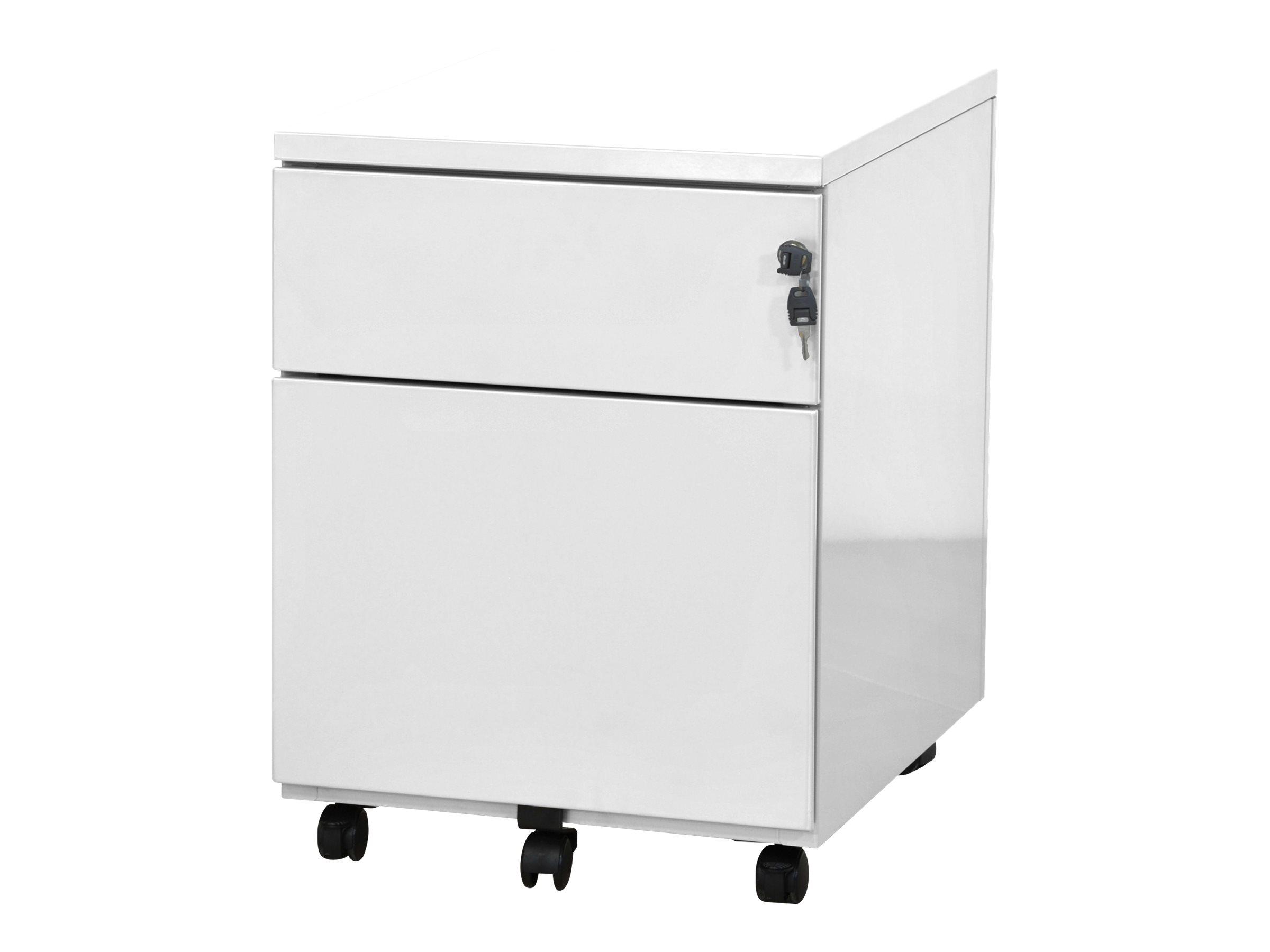 Caisson mobile - 2 tiroirs - blanc - 56,7 x 54,1 x 41,8 cm