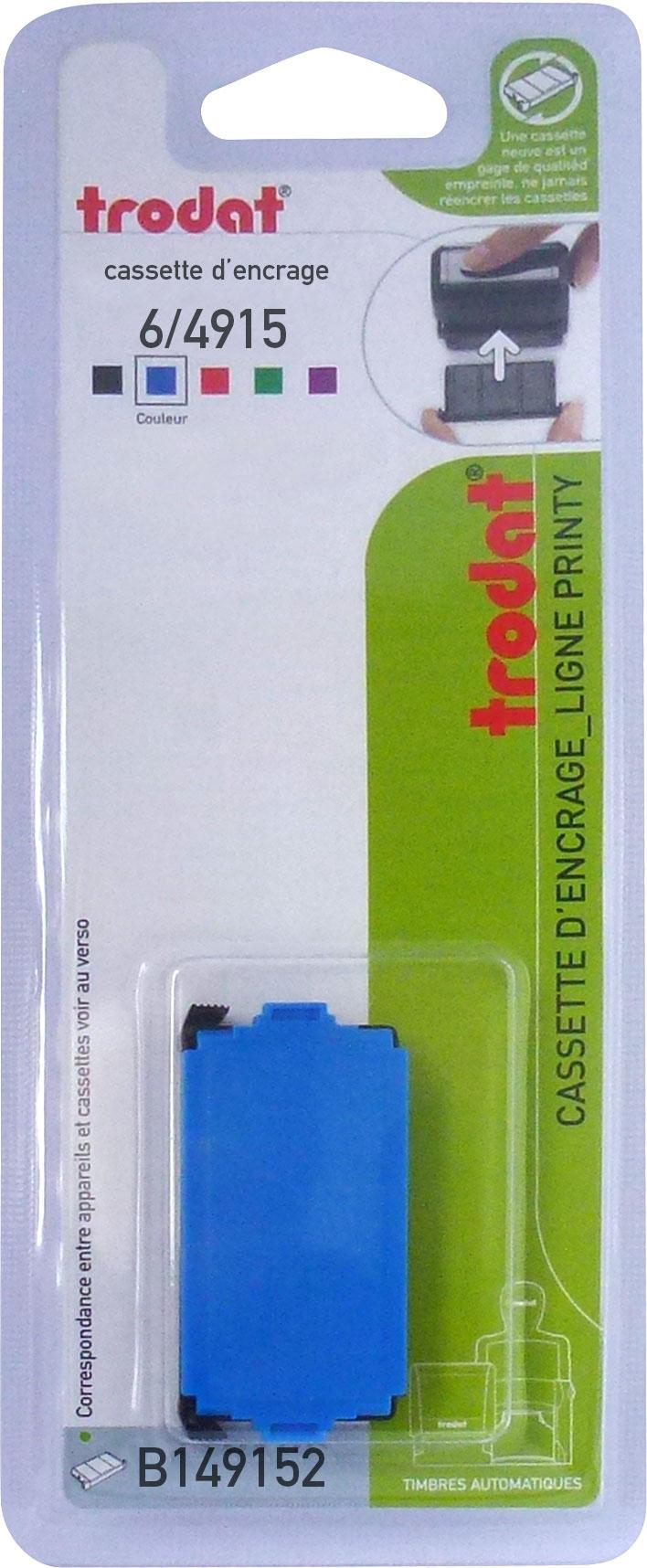 Trodat - Encrier 6/4915 recharge pour tampon Printy 4915 - bleu