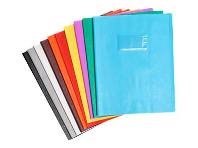 Calligraphe - Protège cahier sans rabat - A4 (21x29,7 cm) - grain cuir - orange