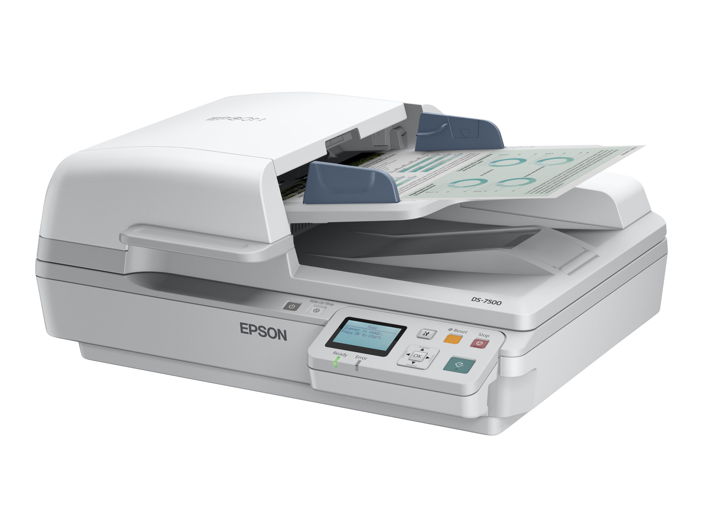 Epson WorkForce DS-6500N - scanner de documents A4 - 1200 ppp x 1200 ppp - 25ppm