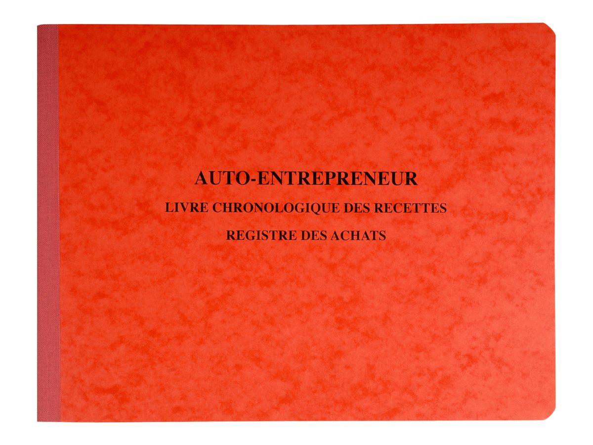 Exacompta - Registre des recettes/achats pour auto-entrepreneurs - 24 x 32 cm