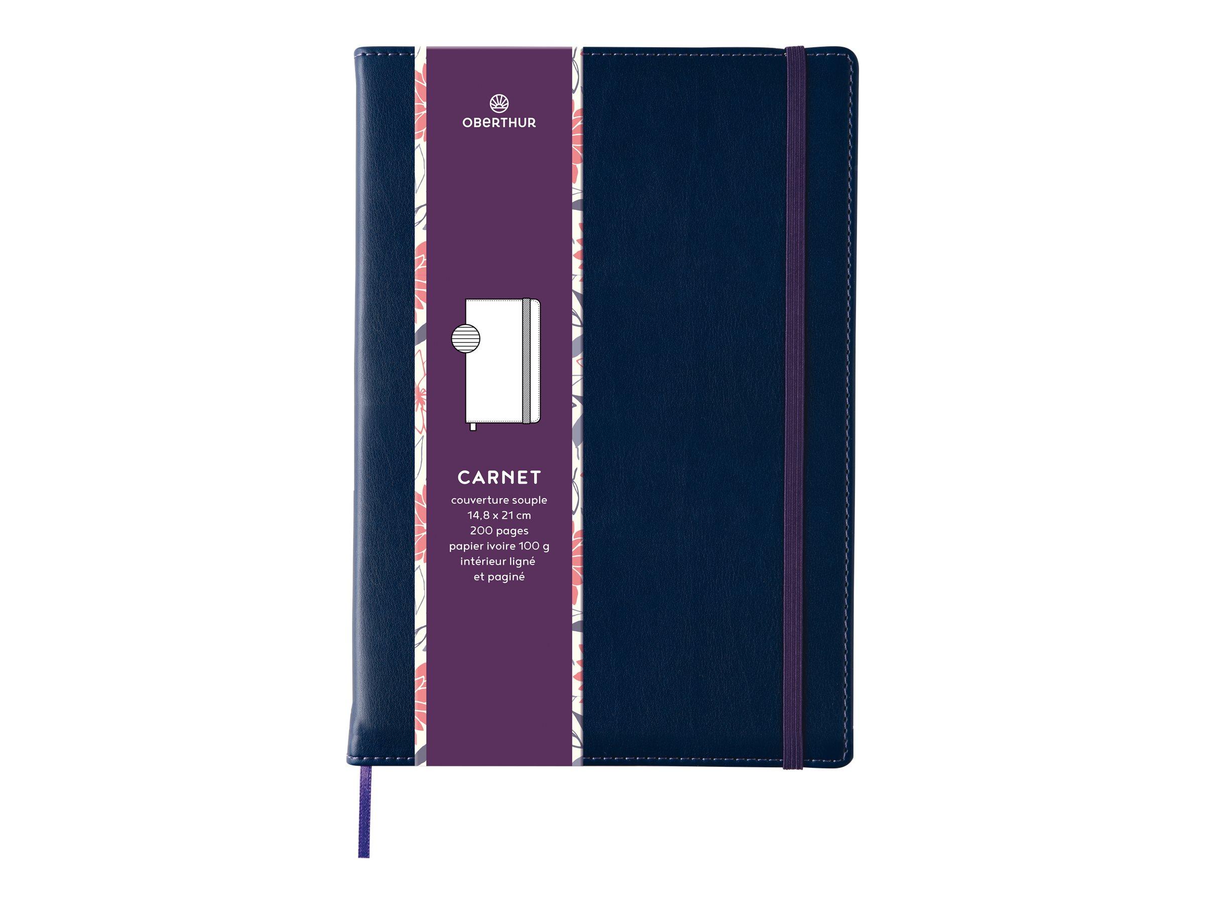 Oberthur Carmen - Carnet de notes A5 - bleu