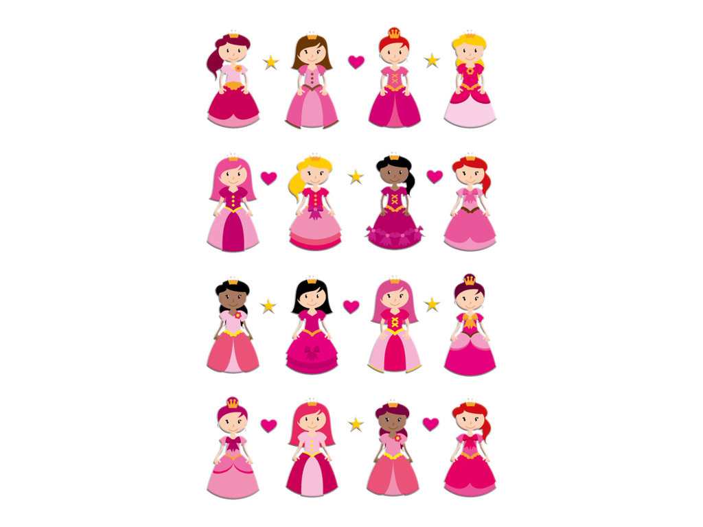 Maildor - 1 feuille gommettes princesses