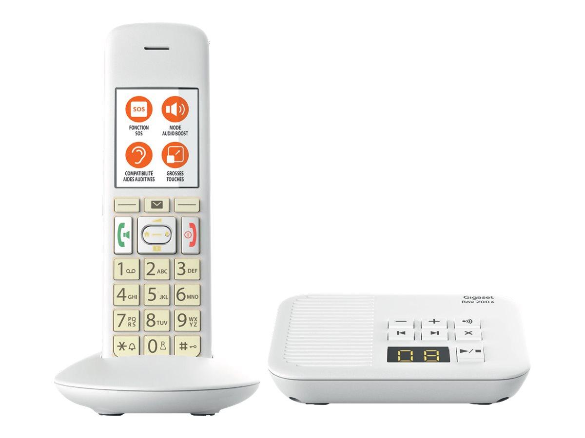 Gigaset E370A - téléphone sans fil - système de répondeur avec ID d'appelant