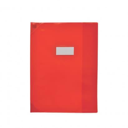 Oxford Strong Line - Protège cahier sans rabat - 24 x 32 cm - rouge translucide