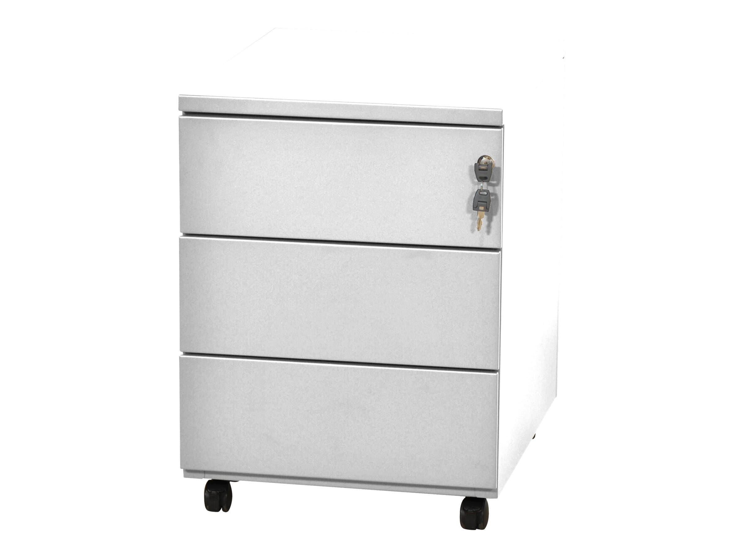 Caisson mobile - 3 tiroirs - blanc - 56,7 x 54,1 x 41,8 cm