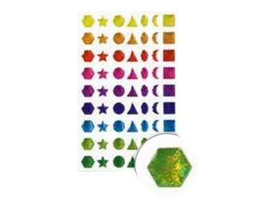 Maildor - 1 feuille gommettes formes géométriques