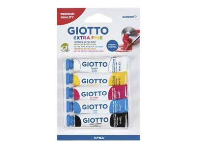 Giotto - 5 tubes peinture - gouache -