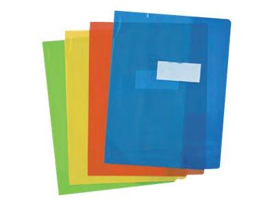 Oxford Strong Line - Protège cahier sans rabat - 24 x 32 cm - disponible dans différentes couleurs translucides
