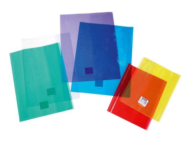 Calligraphe - Protège cahier sans rabat - 17 x 22 cm - cristalux - rouge transparent