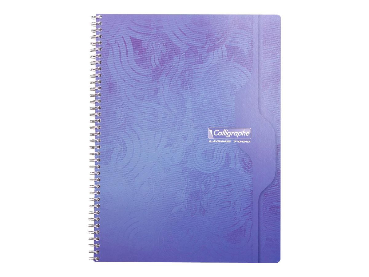Calligraphe 7000 - Cahier à spirale 24 x 32 cm - 180 pages - grands carreaux (Seyes) - disponible dans différentes couleurs