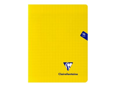 Clairefontaine Mimesys - Cahier polypro 17 x 22 cm - 48 pages - grands carreaux (Seyes) - jaune