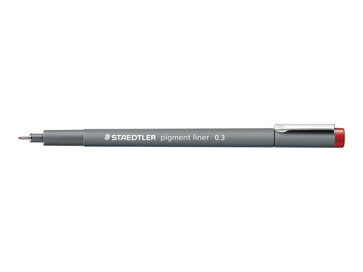 STAEDTLER pigment liner - Feutre fin - 0.3 mm - rouge