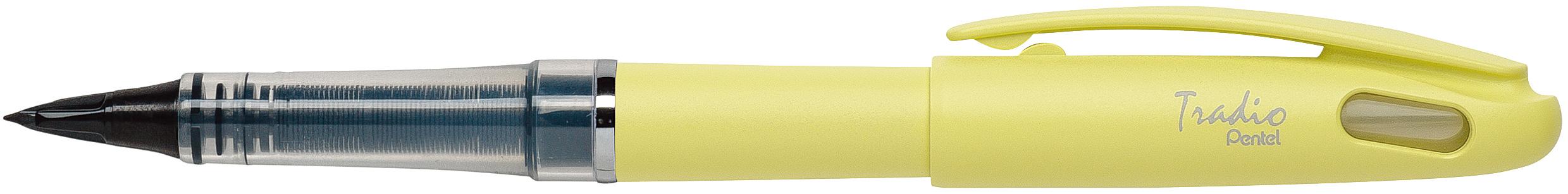 Pentel Tradio Pastel - Feutre plume - corps jaune