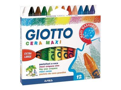 GIOTTO - 12 Craies de couleur - pointe large