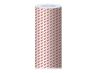 Clairefontaine Alliance - Papier cadeau - 70 cm x 50 m - 60 g/m² - motif rennes rouges