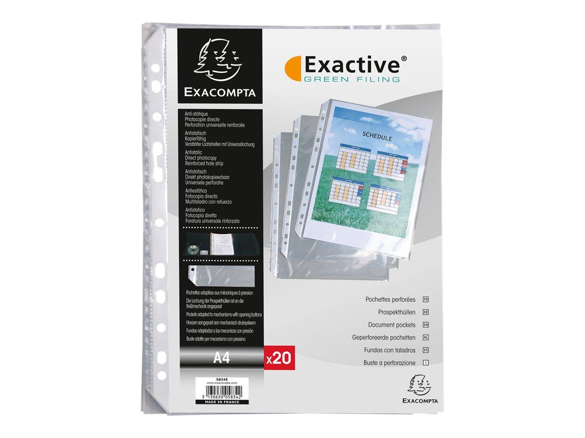 Exacompta Exactive - 20 Pochettes perforées - A4