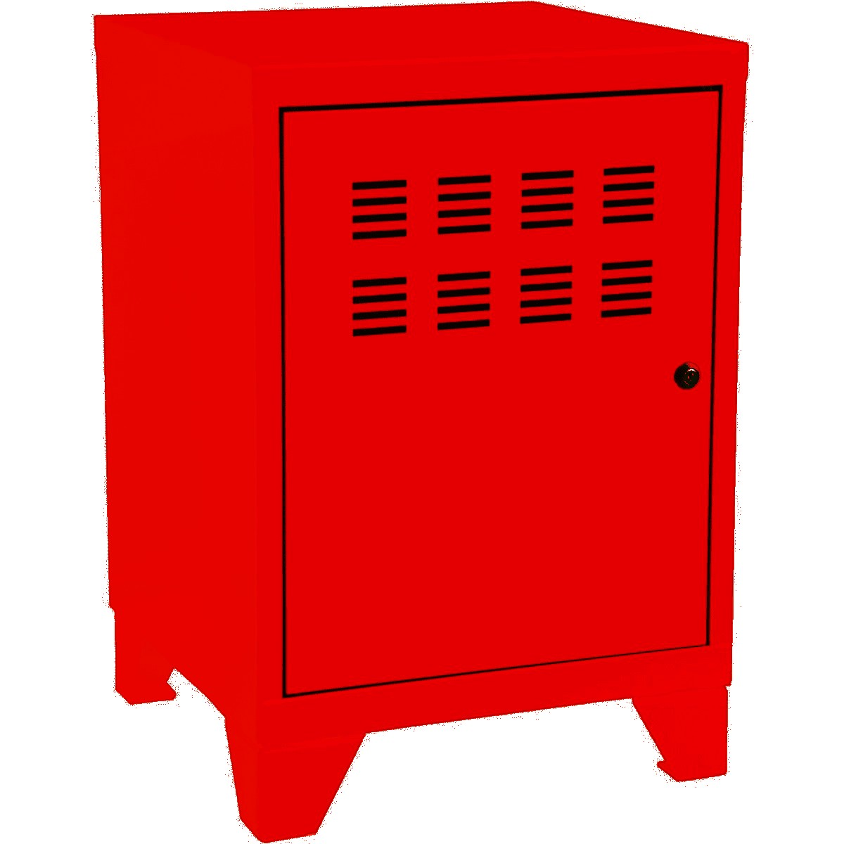 Casier de bureau avec pieds - 57,5 x 40 x 40 cm - rouge