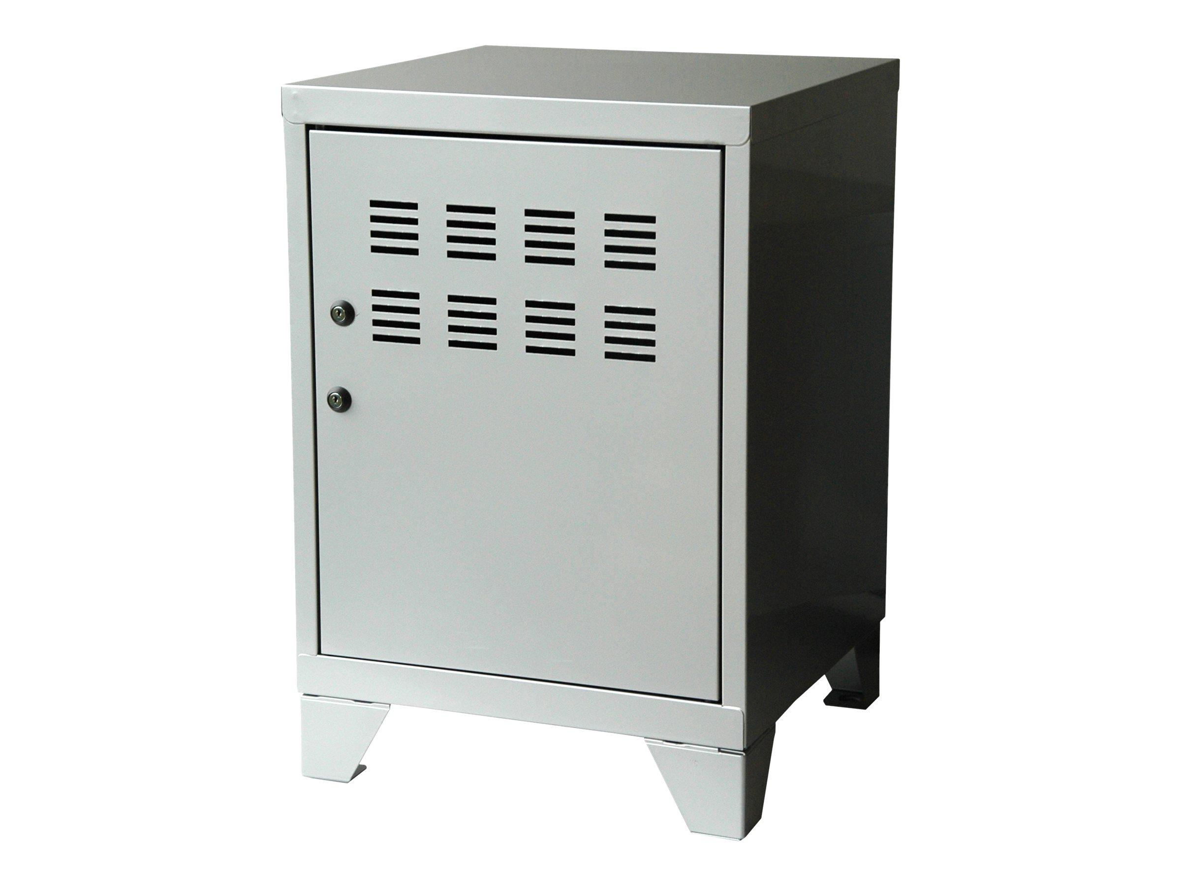 Casier de bureau avec pieds - 57,5 x 40 x 40 cm - aluminium