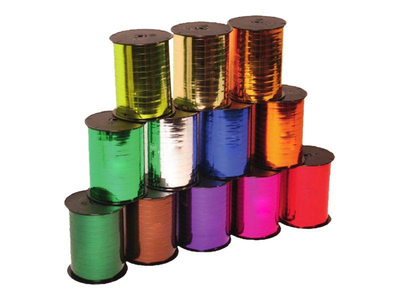 Maildor - Bolduc métallisé - ruban d'emballage 7 mm x 250 m - violet