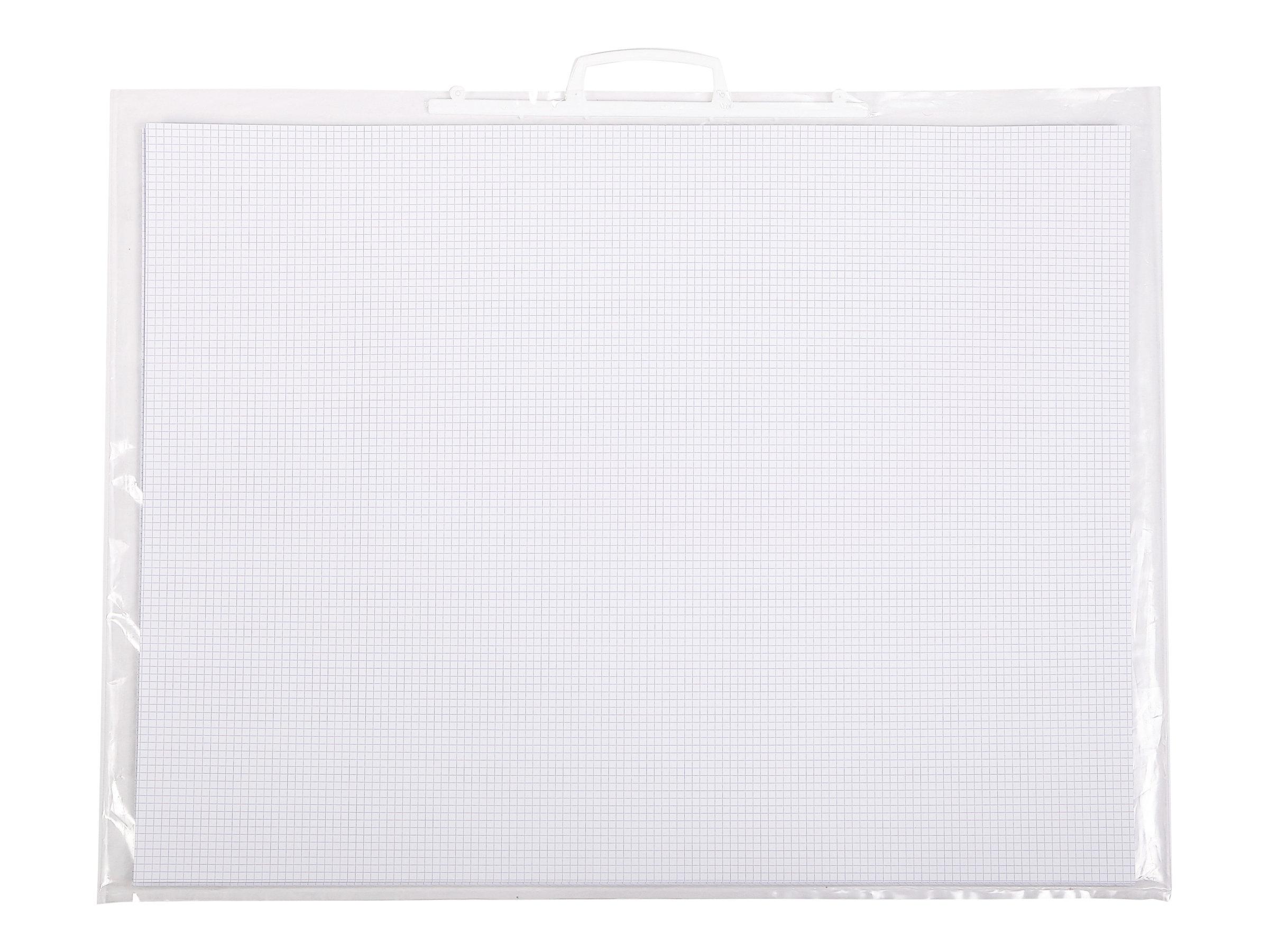 Clairefontaine - Feuille bristol - 50 x 65 cm - extra blanc - quadrillé 5x5 mm