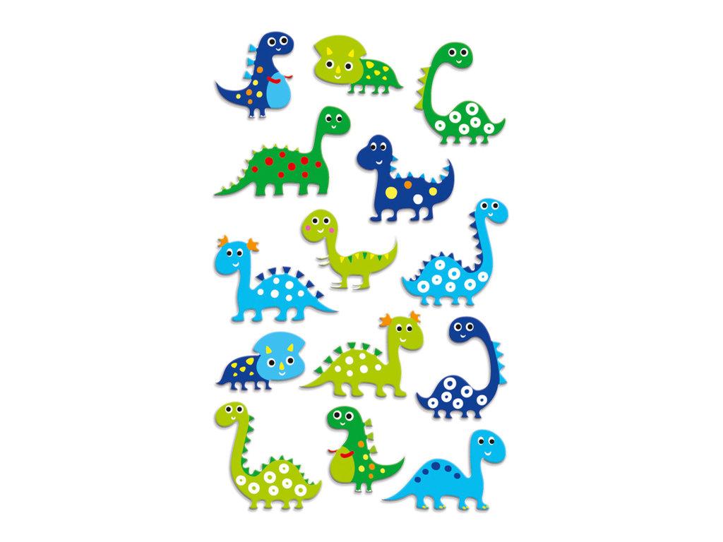 Maildor - 1 feuille gommettes dinosaures