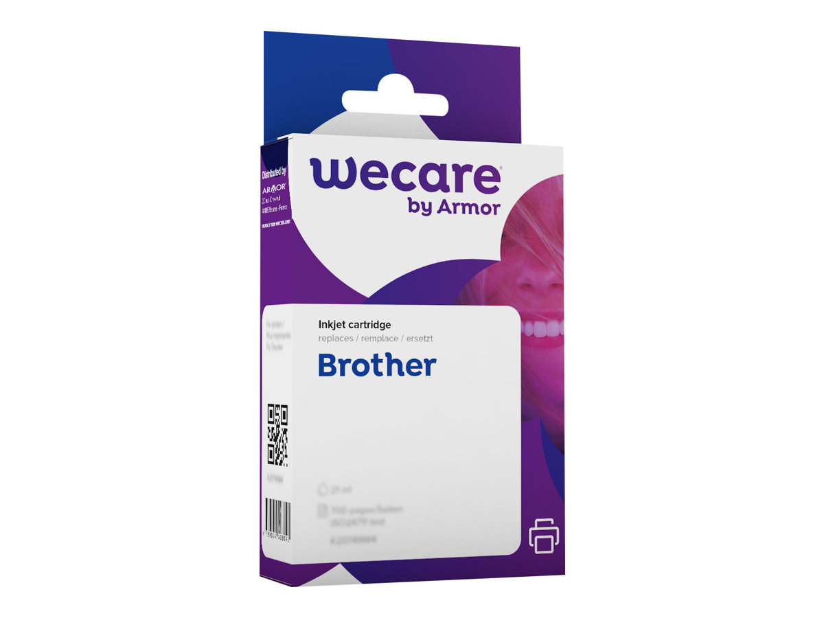 Brother LC1100/LC980 - compatible Wecare K12445W4 - cyan - cartouche d'encre