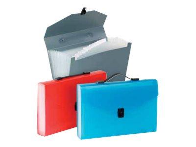Viquel Propyglass - Classeur ménager (valisette trieur) 12 onglets - disponible dans différentes couleurs