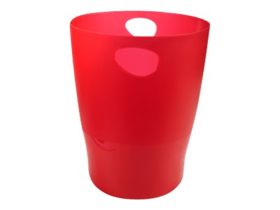 Exacompta Ecobin - Corbeille à papier 15L - rouge carmin