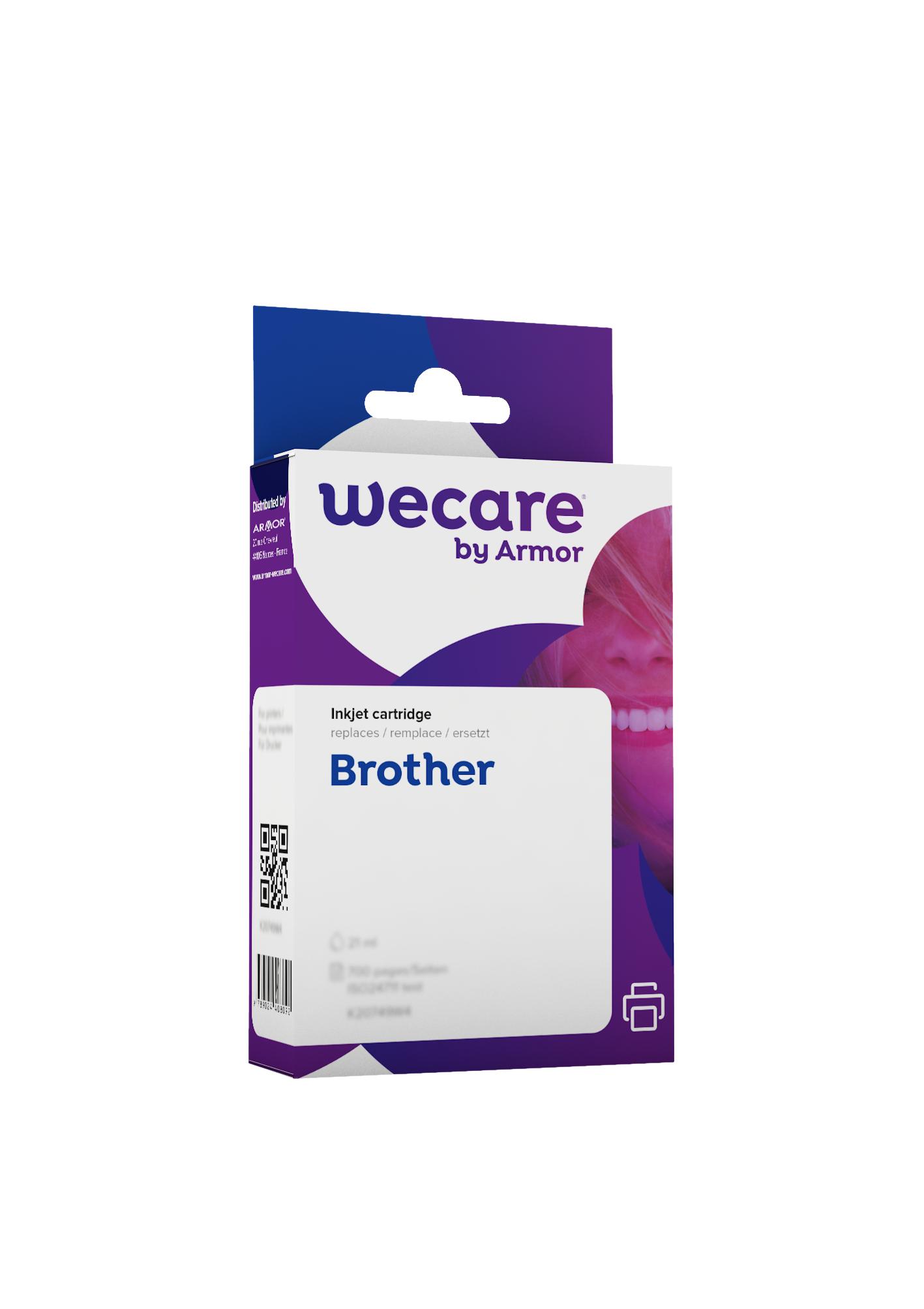 Brother LC980 - compatible Wecare K10145W4 - pack de 4 - noir, cyan, magenta, jaune - cartouche d'encre