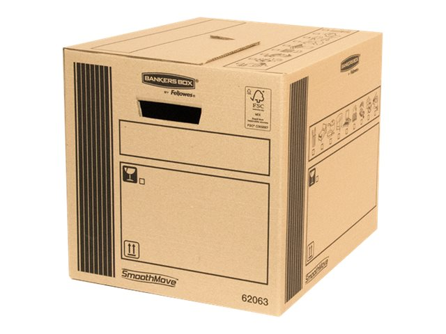 Bankers Box SmoothMove - 10 cartons déménagement 41L - Fellowes