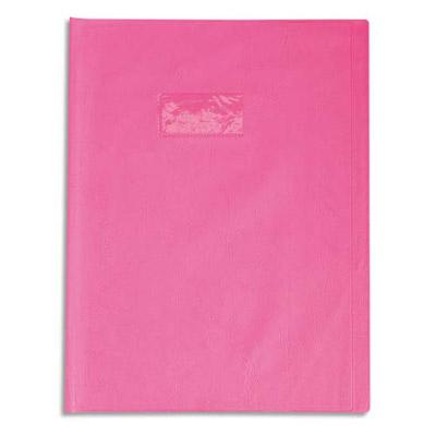 Calligraphe - Protège cahier sans rabat - 24 x 32 cm - grain cuir - rose