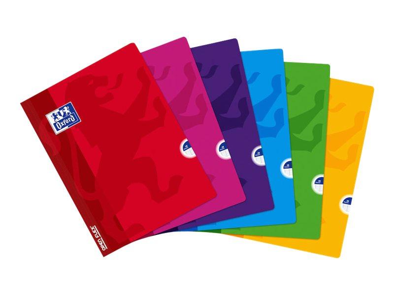 Oxford Openflex - Cahier polypro 24 x 32 cm - 48 pages - grands carreaux (Seyes) - disponible dans différentes couleurs