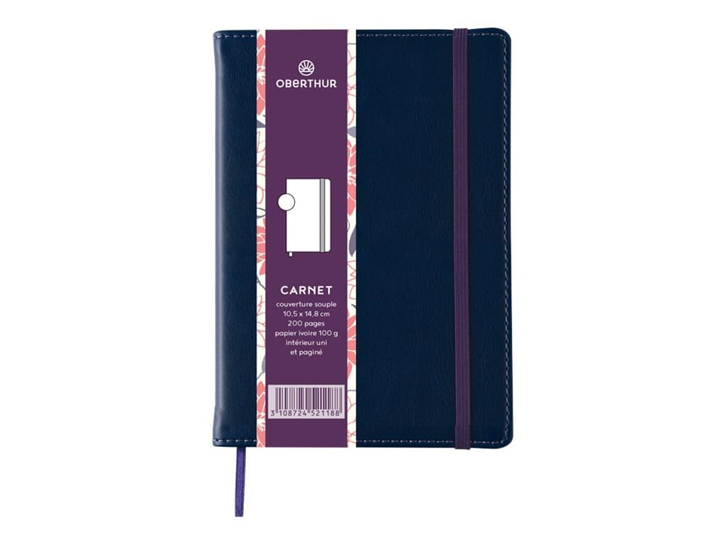 Oberthur Carmen - Carnet de notes souple A6 - uni - bleu