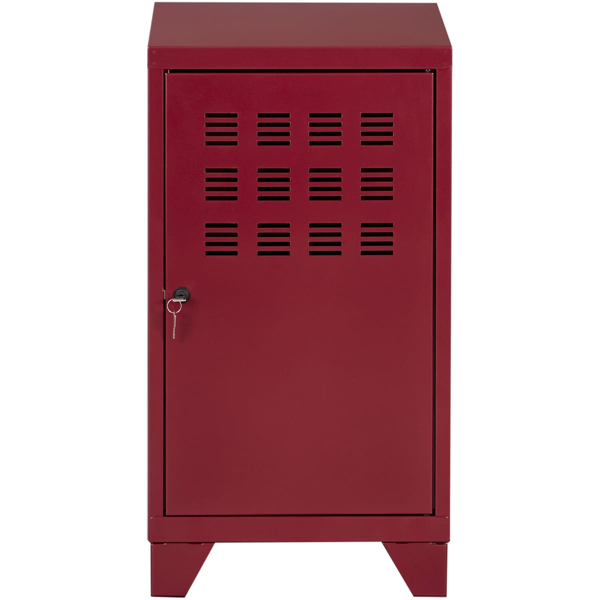 Casier de bureau avec pieds - 74 x 40 x 40 cm - rouge