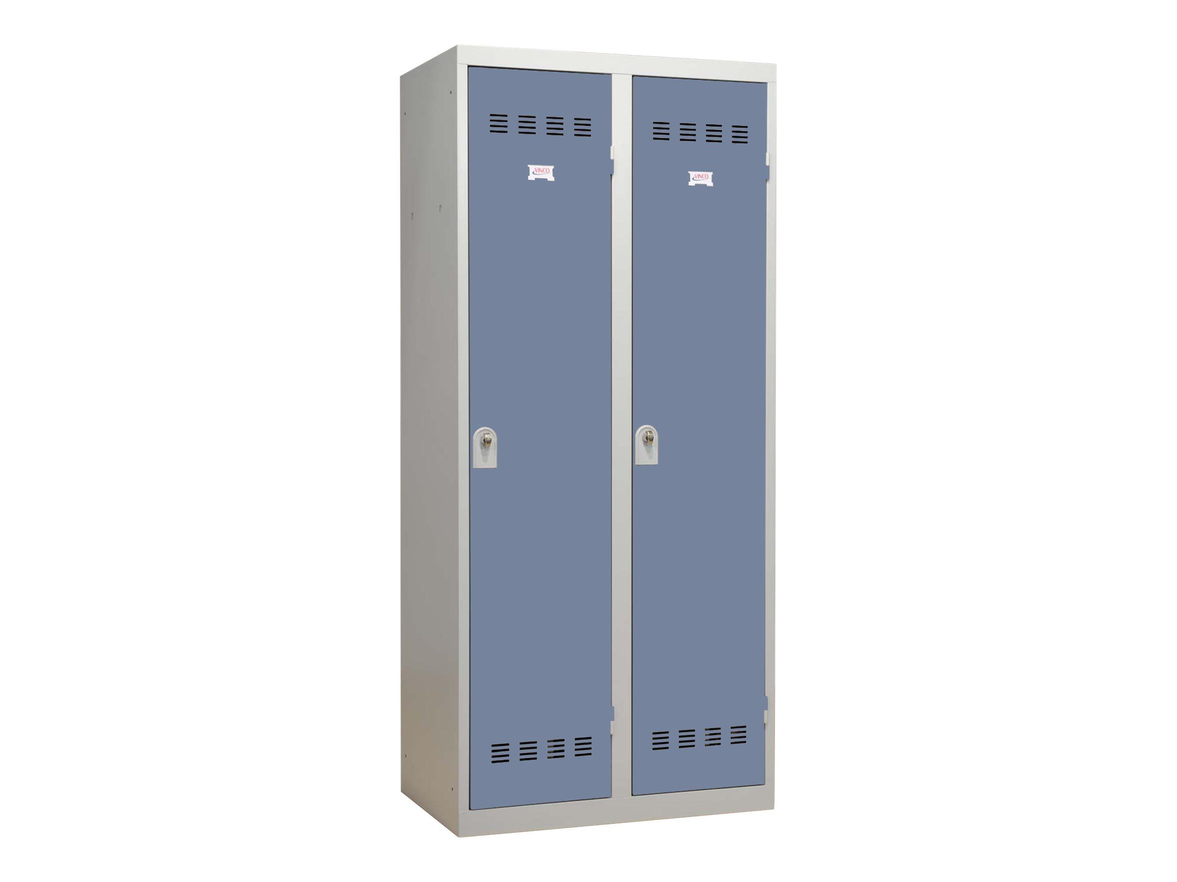 Vestiaire Industrie Salissante - 2 portes - 180 x 80 x 50 cm - gris/beu