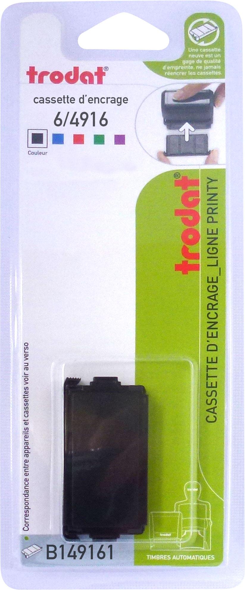 Trodat - Encrier 6/4916 recharge pour tampon Printy 4916 - noir
