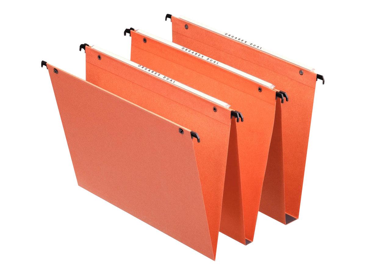 Esselte Dual - 25 Dossiers suspendus pour tiroirs - fond V